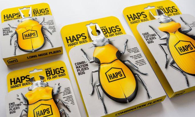 Haps Handy Bugs Pliers Fun Package Design