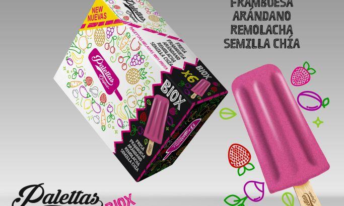 Palettas Ice Cream Bright Package Design