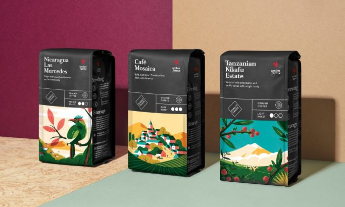 Archer Farms Coffee Colorful Package Design
