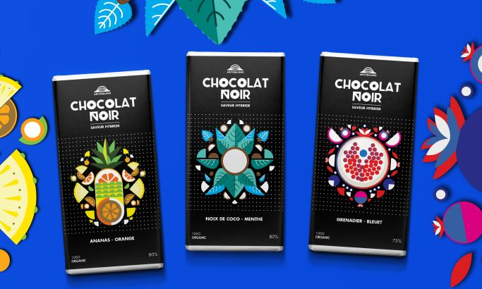 Arcobaleno Chocolate Colorful Package Design