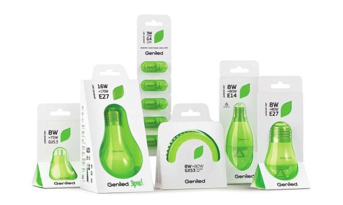 Geniled Bright LED Bulbs Great Package Design