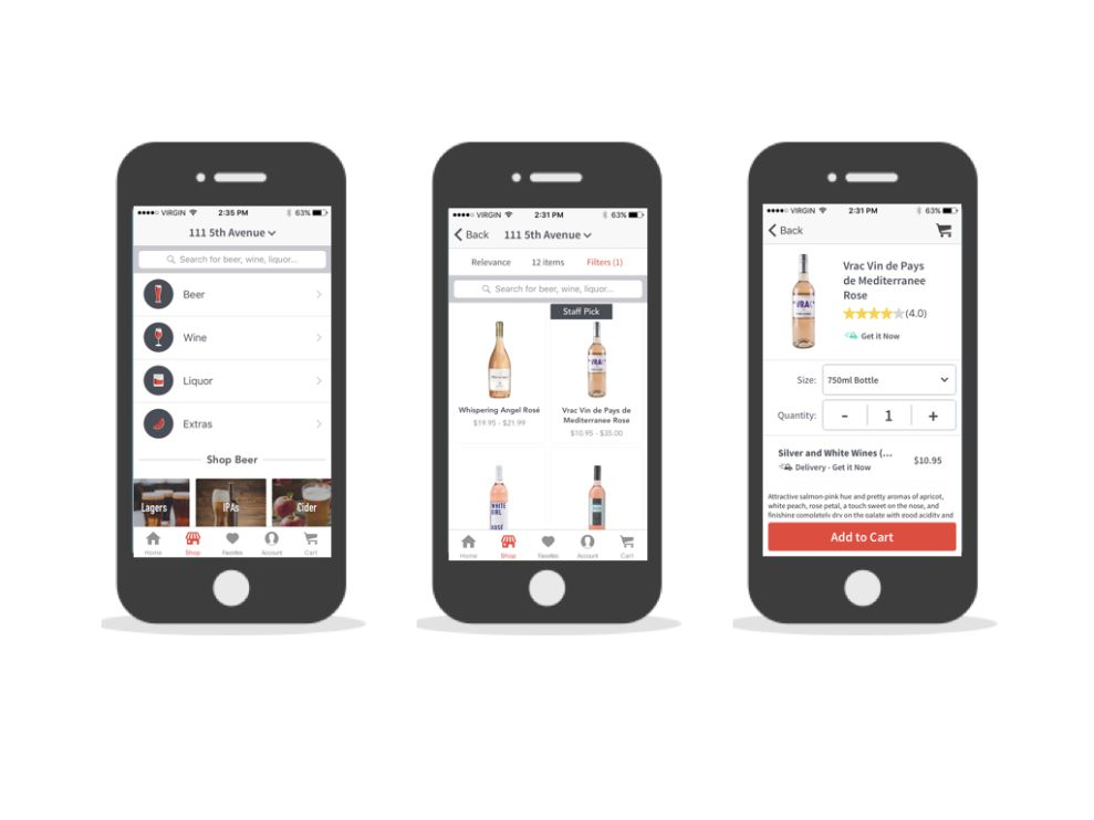 Drizly iPhone App Design