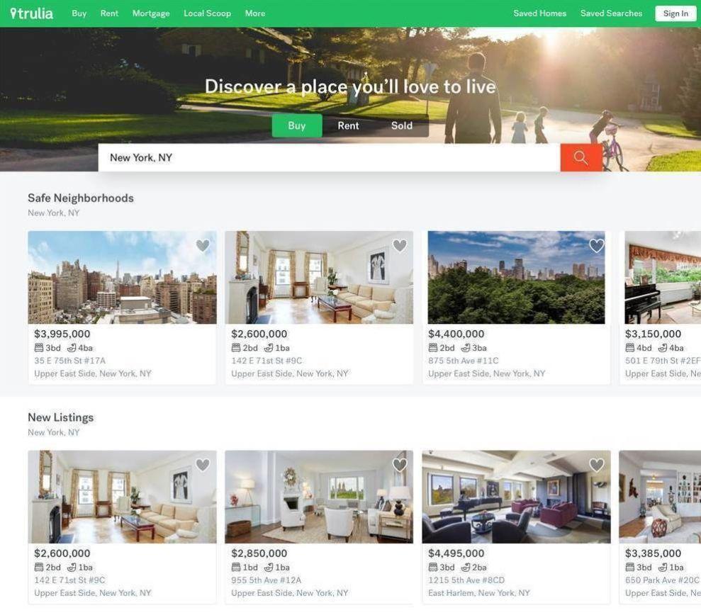 Trulia Best Website Design
