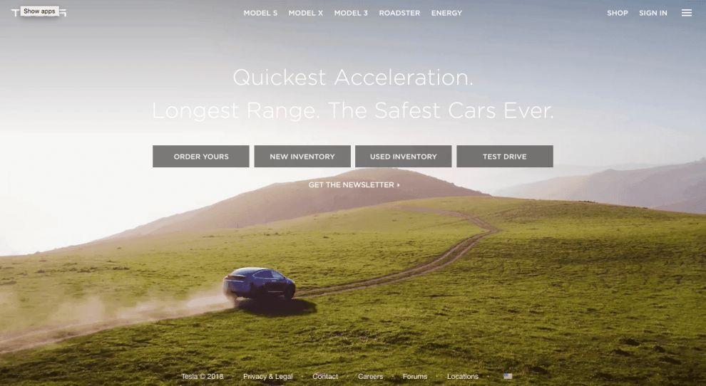 Tesla Best Website Design
