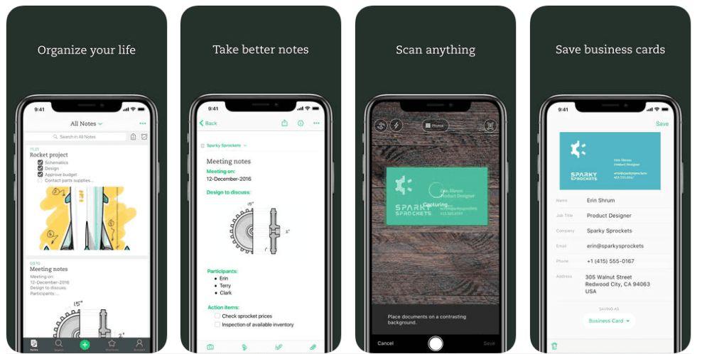 Evernote App Design iPhone