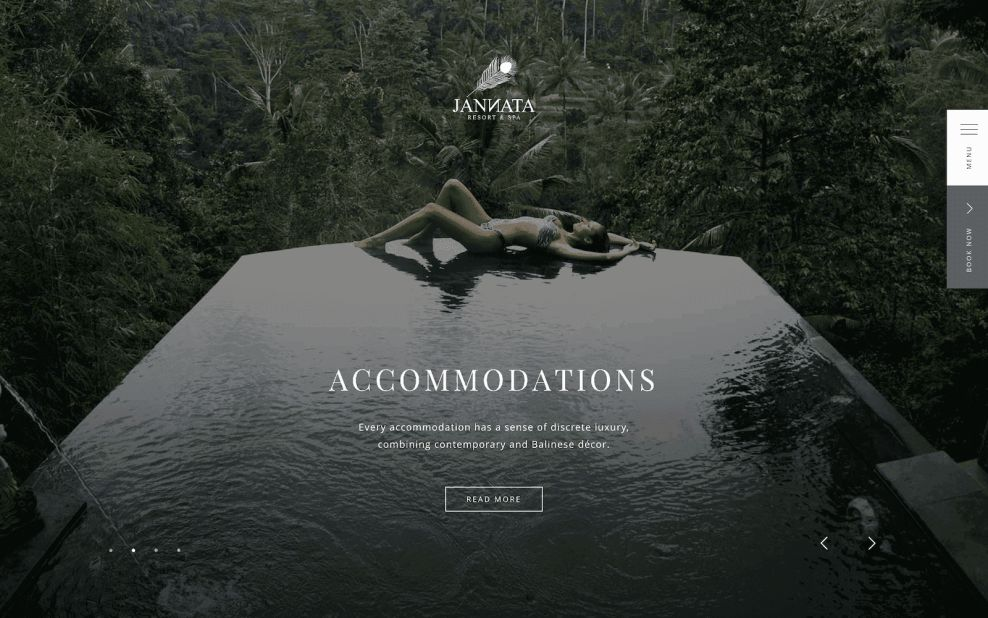 Jannata Home Page Website Design