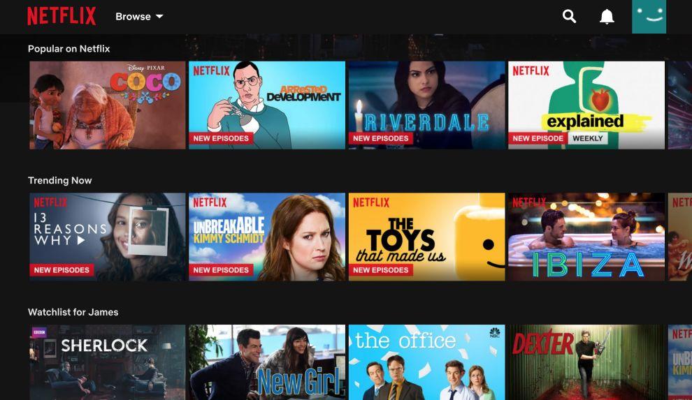 Netflix Screen Website Design