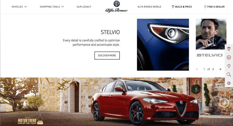 Alfa Romeo Best Website Design