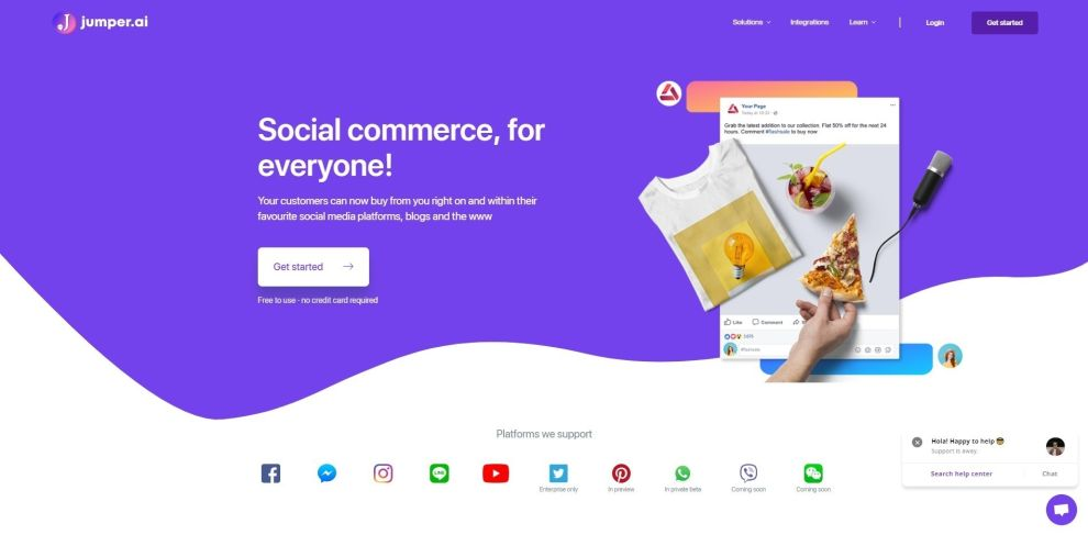 Jumper Colorful Web Design