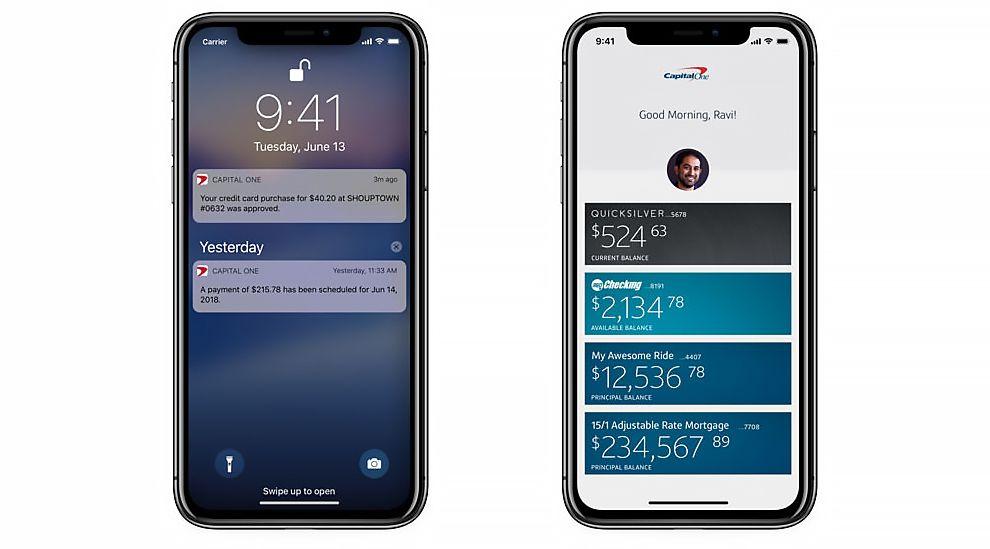 Capital One Top App Design
