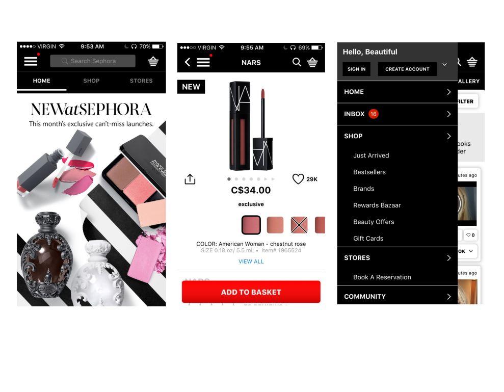 Sephora App Design
