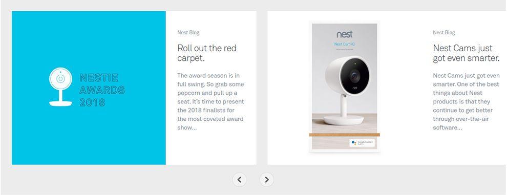 Nest Homepage Slide Show