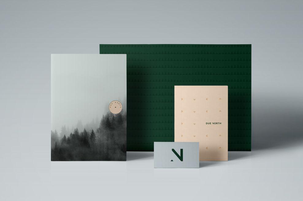 Due North Elegant Print Design