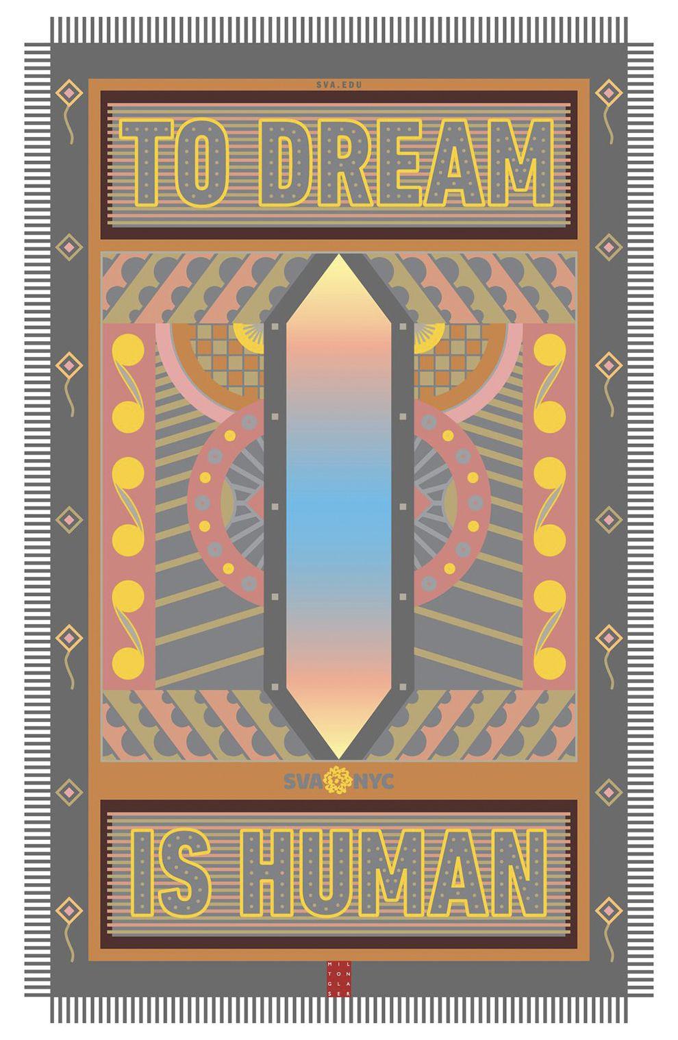 Milton Glaser's Underground Images Symmetrical Print Design