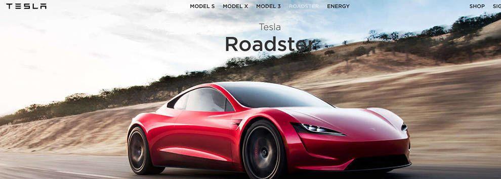 Tesla Website Menu