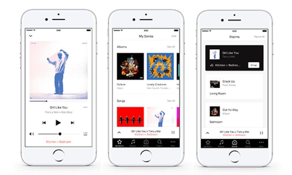 Sonos App Design Screens