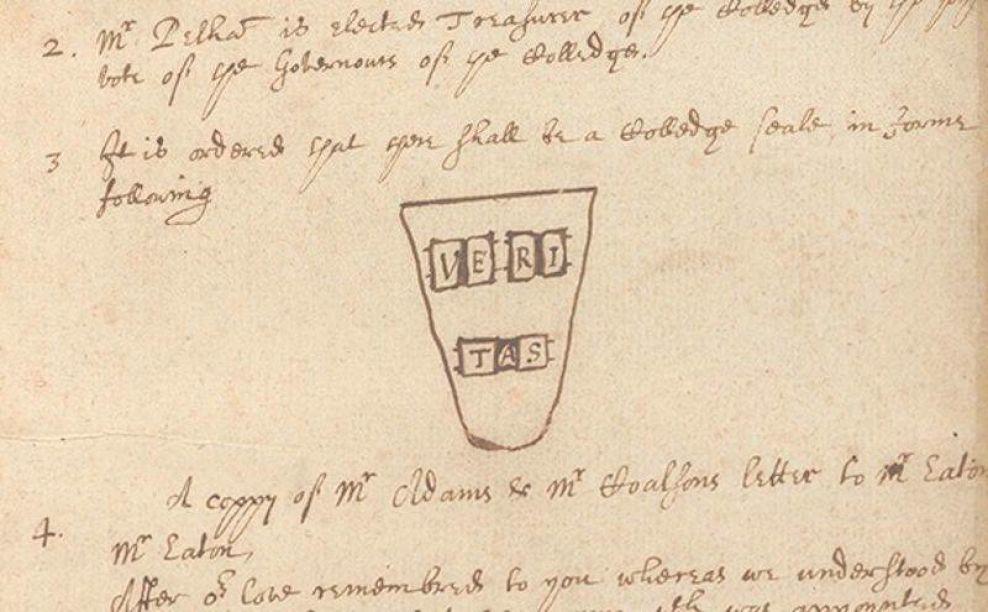 Harvard Logo Design Sketch