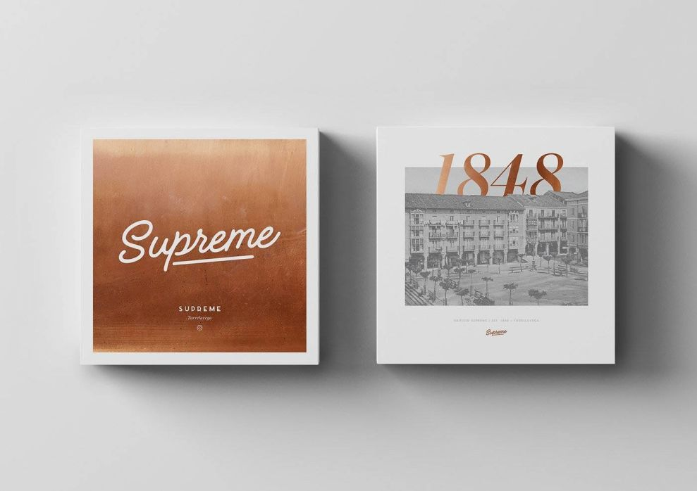Supreme Torrelavega Cards Typography