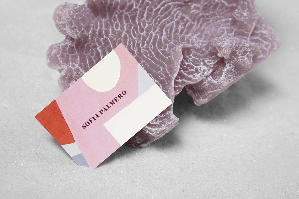 Sofia Palmero Business Card Print Design