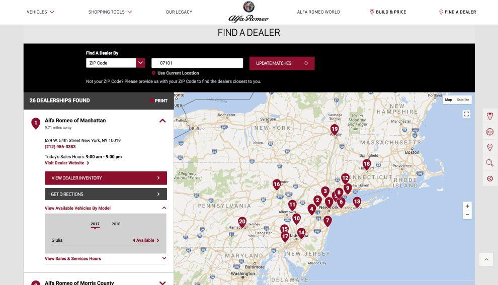 Alfa Romeo Top Website Design