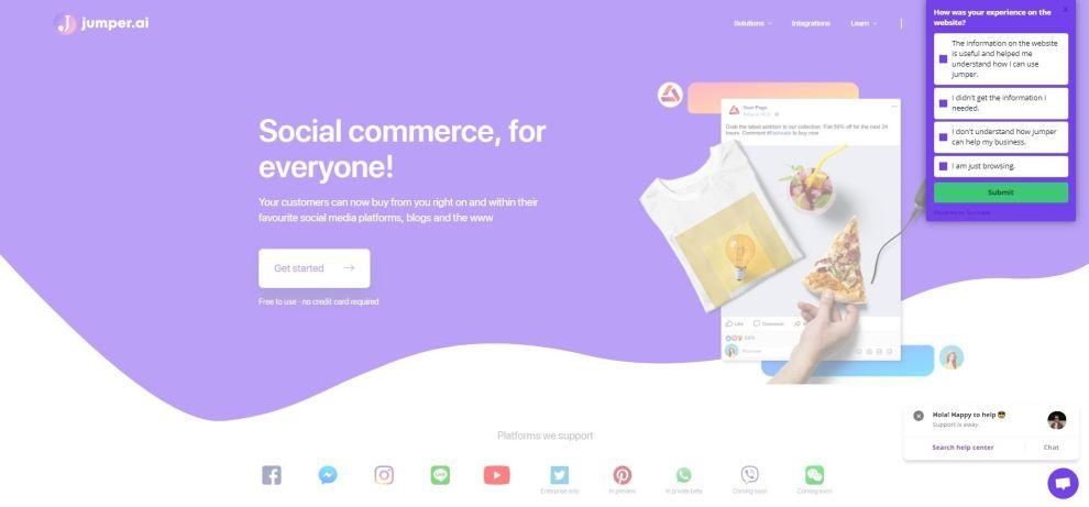 Jumper Top Web Design