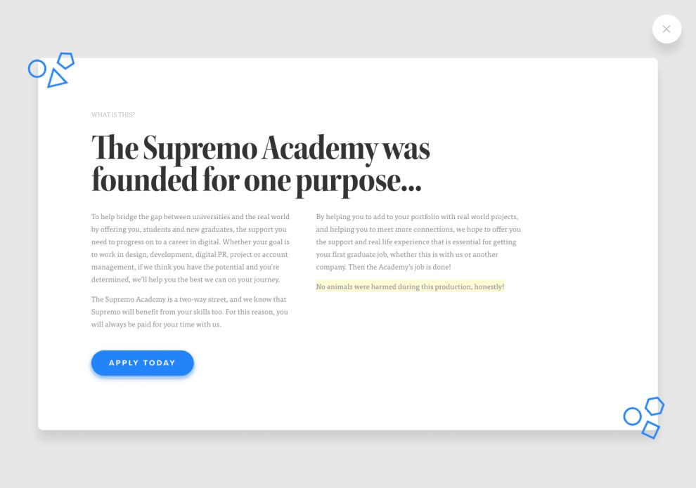 Supremo Academy's Illustrative Landing Page Creates An Intriguing User Experience (slide 3)
