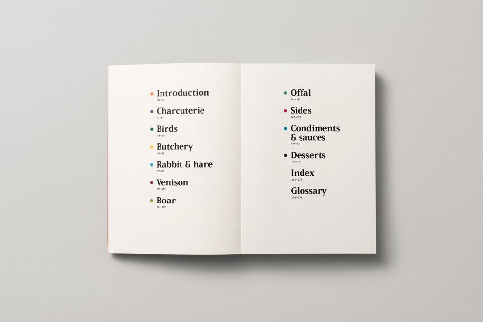 Cazador Cookbook by Tim Donaldson Minimal Print Design