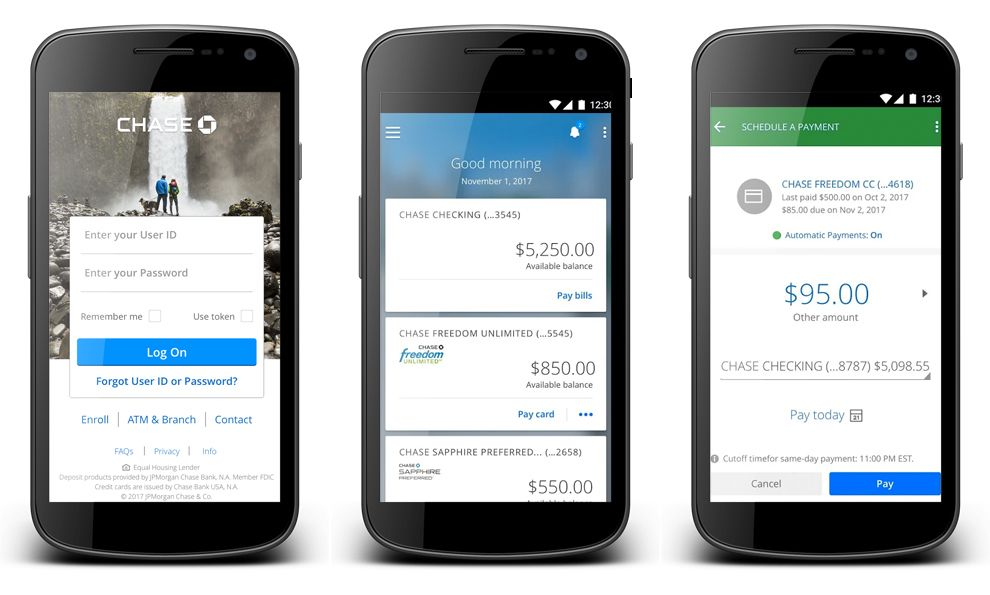 Chase Top Mobile App Design