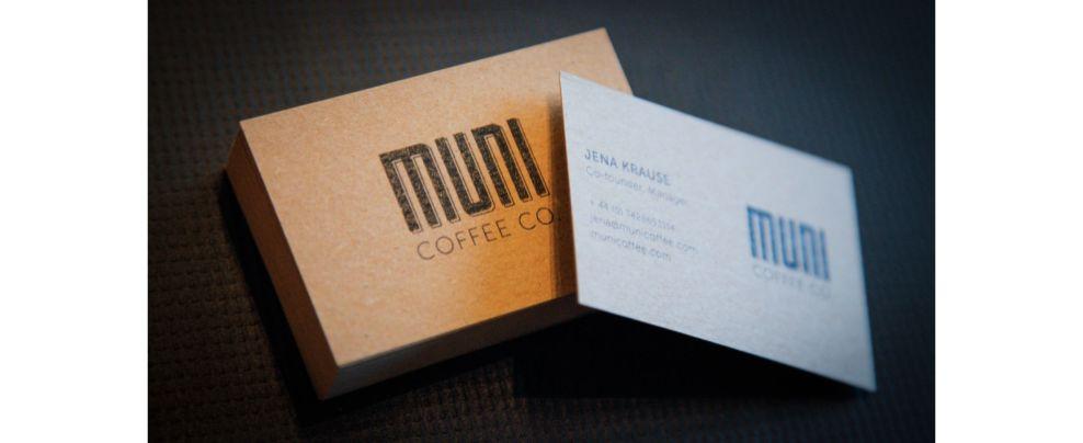 Muni Coffee Company Trendy Print Design