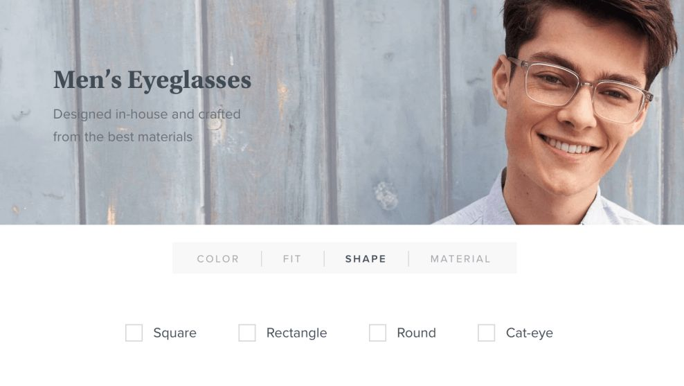 Warby Parker Filters