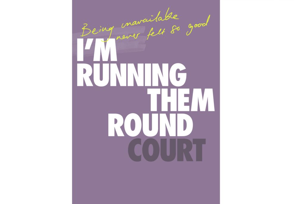 Sport England Purple Print Design