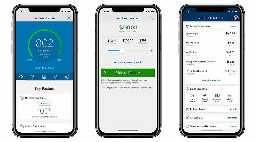 Capital One Modern App Design