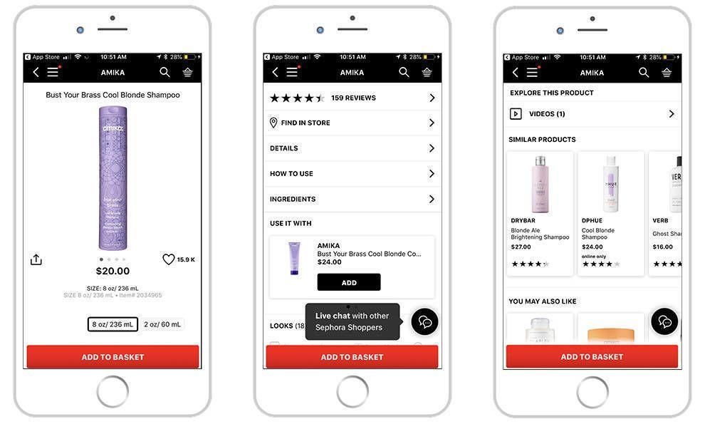 Sephora Minimal App Design