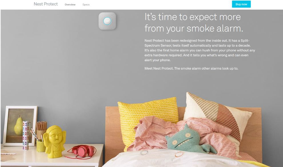 Nest Website Product Pages