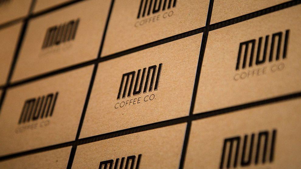 Muni Coffee Company Print Design