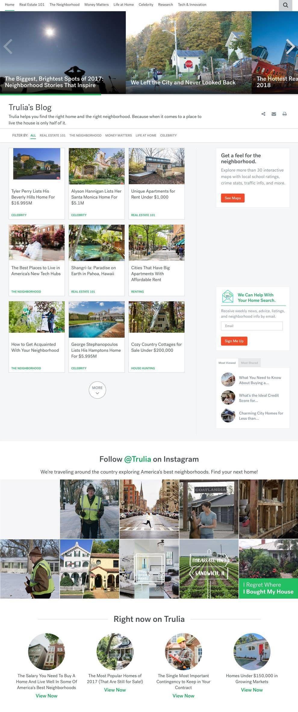 Trulia Website Design Blog