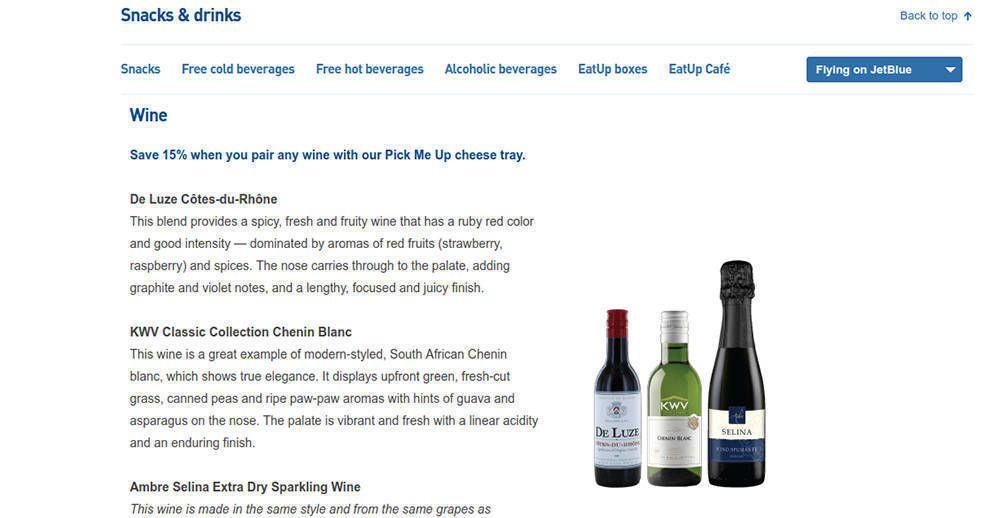 JetBlue Great Website Design