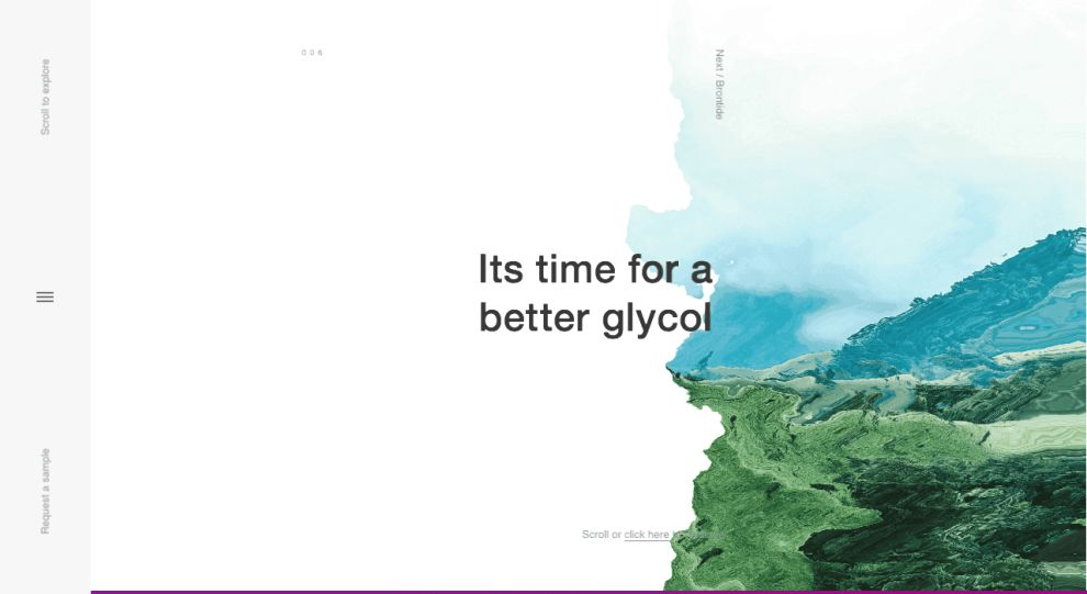 Brontide Website Design Effects