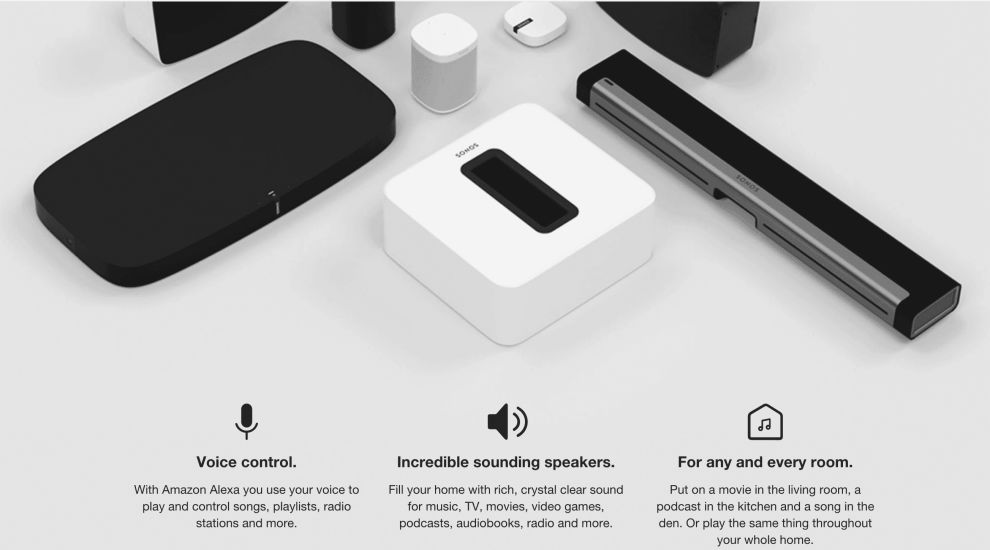 Sonos Homepage Products