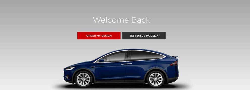 Tesla Website Design Call To Action CTA