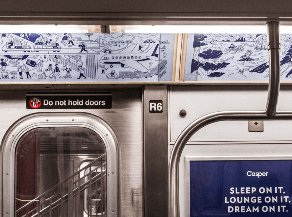 Casper's Illustrated Subway Ads & Billboards Bring The Brand's Accessible Personality To Life (slide 5)