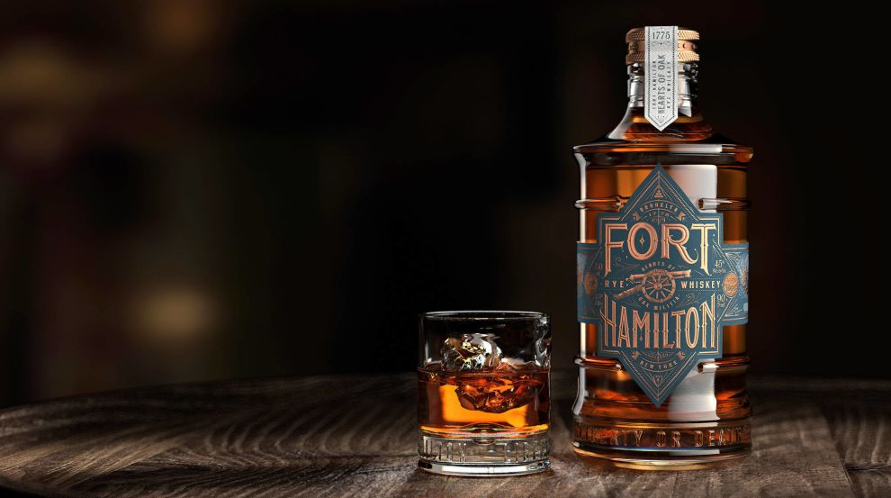 Fort Hamilton Cup And Bottle Package Design