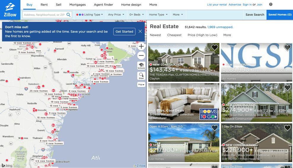 Zillow Beset Website Design