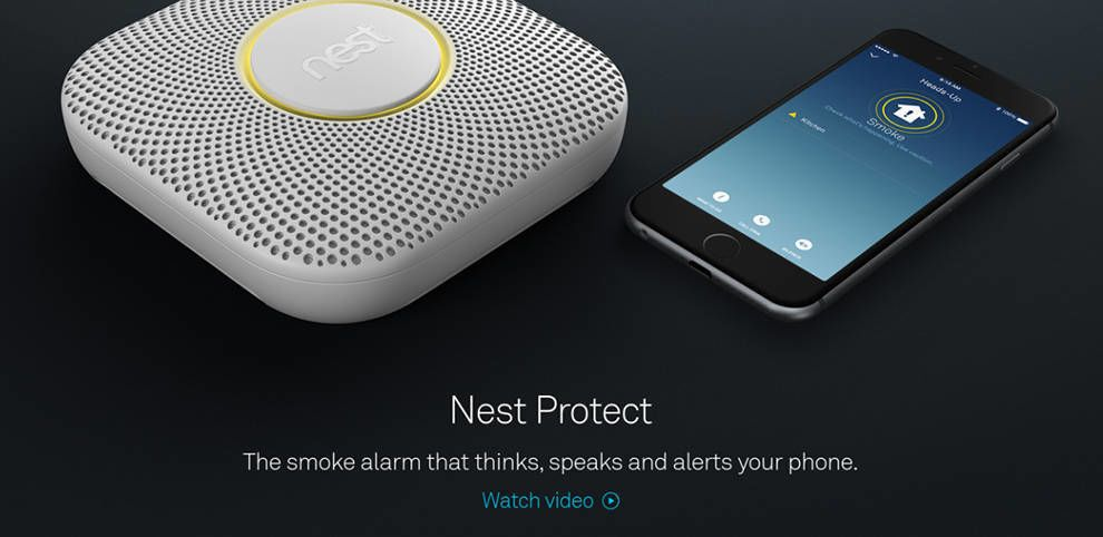 Nest Website Product Page Animation
