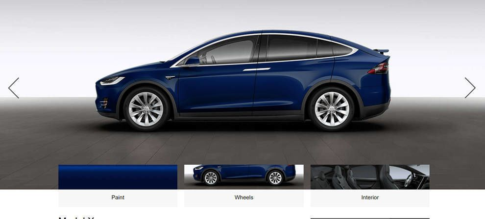 Tesla Website Design Interactive Designer