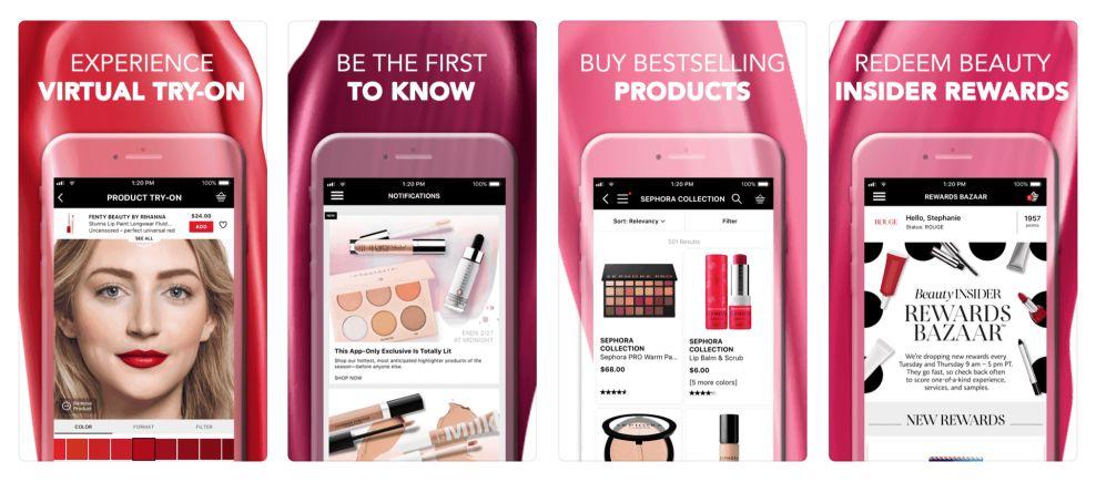 Sephora Top App Design