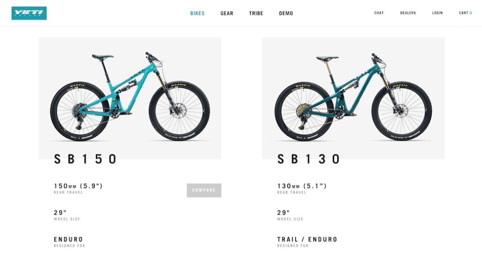 Yeti Cycles E-Commerce Web Design