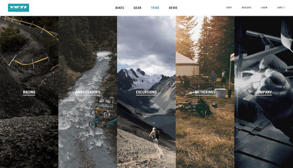 Yeti Cycles Successful Web Design
