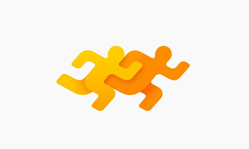 Fitness App Creative Logo Design