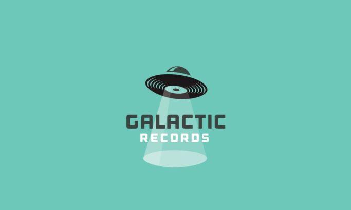 Galactic Records Fun Logo Design